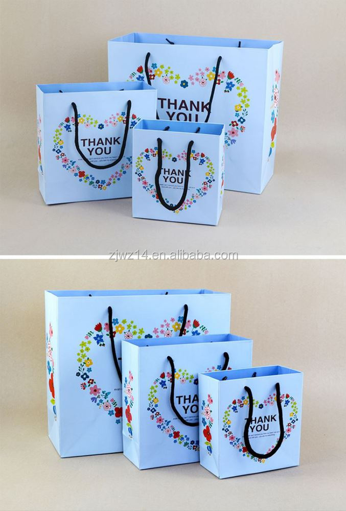 paper bag industry/ color printed paper bag/ large size colorful paper bag