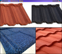 Soncap certification China villa building material colorful stone coated steel roofing sheet/roof tile
