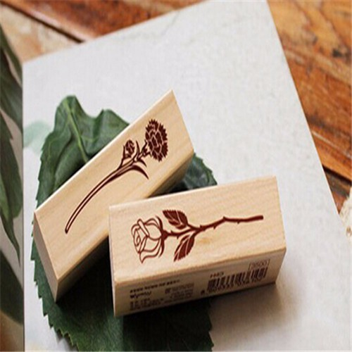 2015 Good Quality New Design wood handle kids wood stamp set for decoration use