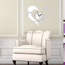 Acrylic Clock DIY Removable Acrylic Mirror Wall Stickers/Decals Indoor/Outdoor Stickers For Kids Room