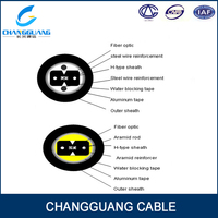 GJXFHA indoor FTTH drop duct 2 cores optical fiber cable price