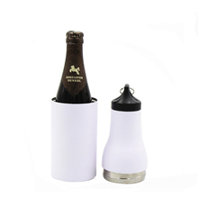 Huabiao 12 oz double wall bottle water bottle stainless steel beer can cooler holder, stainless steel can cooler