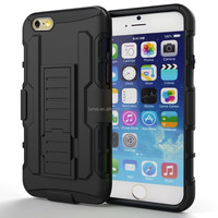 Hard Plastic Dual Layer Holster Shock proof Kickstand and Rotating Belt Case Cover For iPhone 6 Plus