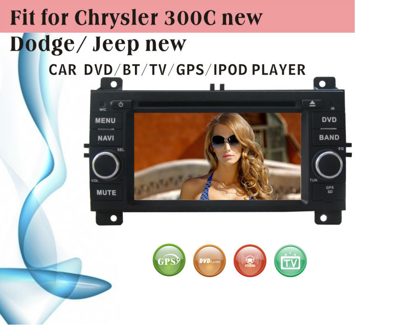 car dvd vcd cd mp3 mp4 player fit for Jeep new Chrysler 300C Dodge with radio bluetooth gps tv