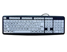 New Products BST-008 Wired Big Font Keyboard white color with large letters