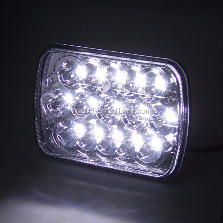 h/l light 7inch 5x7 led headlight for jeep car toyota silve lamp led driving light for truck