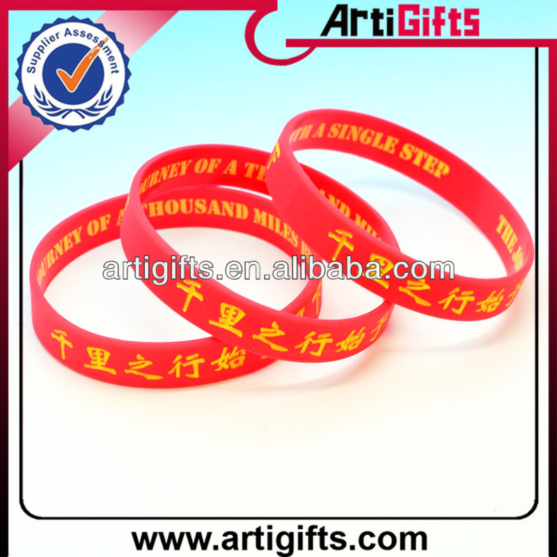 Fashional gifts rubber silicone bracelets with sayings