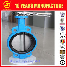 BV-LY-0395 butterfly valve lever handle aluminum face to face PN10 PN16 CL150 JIS10k