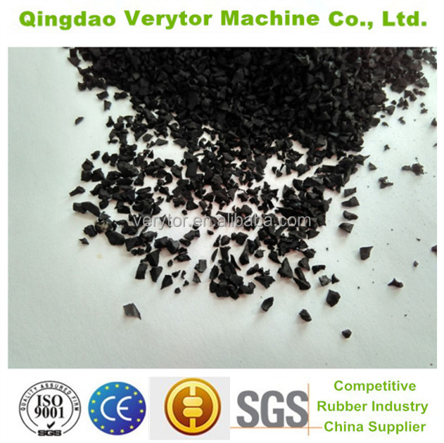 2016 hot sale recycled tires SBR rubber granules factory direct