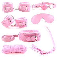 Accept OEM Sexy Product Set Adult Games PU Leather plush Bondage Kit 7 pcs Sex toys