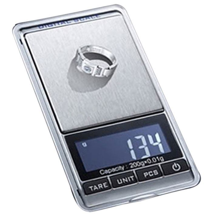 NEW 0.01 x 200g Electronic <strong>Balance</strong> GRAM DIGITAL POCKET Scale WEIGHING Scale