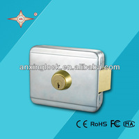 AX053 electric rim lock with single deadbolt for wooden door electric lock