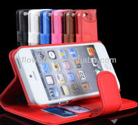 C012 Guangzhou factory hot selling wallet case cover pouch stand for iphone 5 welcome sample order