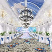 Luxury Modern Design Custom Patterns 100%Nylon Fireproof Hotel Lobby Banquet Halls Flooring Carpets Ballroom Wedding Carpets