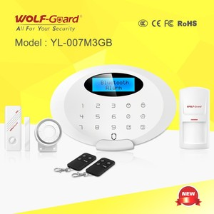 2015 New Product! GSM Security Systems Burglar Alarm with Bluetooth, Voice Message