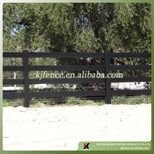 UV protection black ranch/horse/farm fence