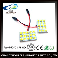 auto led lights Roof light 5050 15SMD led bulbs car dome reading light