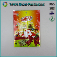 Coloful Printing Merry Christmas Gift Wrapping Packaging Middle Sealed Plastic Bags Wholesale