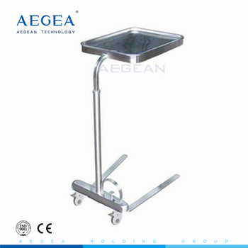 AG-SS008C height adjustable 304 stainless steel over instrument mayo