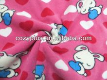 100% polyester gift child airplane printed panda fleece fabric