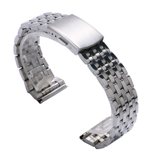 Cheap Silver Color Stainless Steel 18mm/20 mm/22mm Watch Strap Band With 2 Spring Bars For Watches