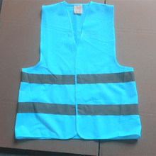 Customized Color Motorcycle Blue Reflecting safety vest EN20471 certified
