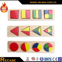 Wooden 2D Puzzles Set Novelty Toys 2017 Educational Gifts For Kids
