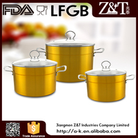 New product commercial aluminum korean cooking pot golden