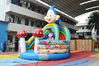New Inflatable Smurfs Slide for Sale,Cheap Inflatable Slide for Kids