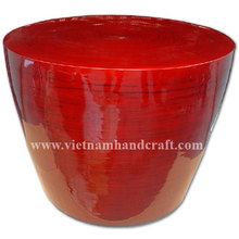 Eco-friendly hand finished vietnamese red lacquered bamboo contemporary furniture