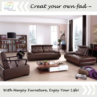 Italy genuine leather sofa set heated leather sofa WQ6927