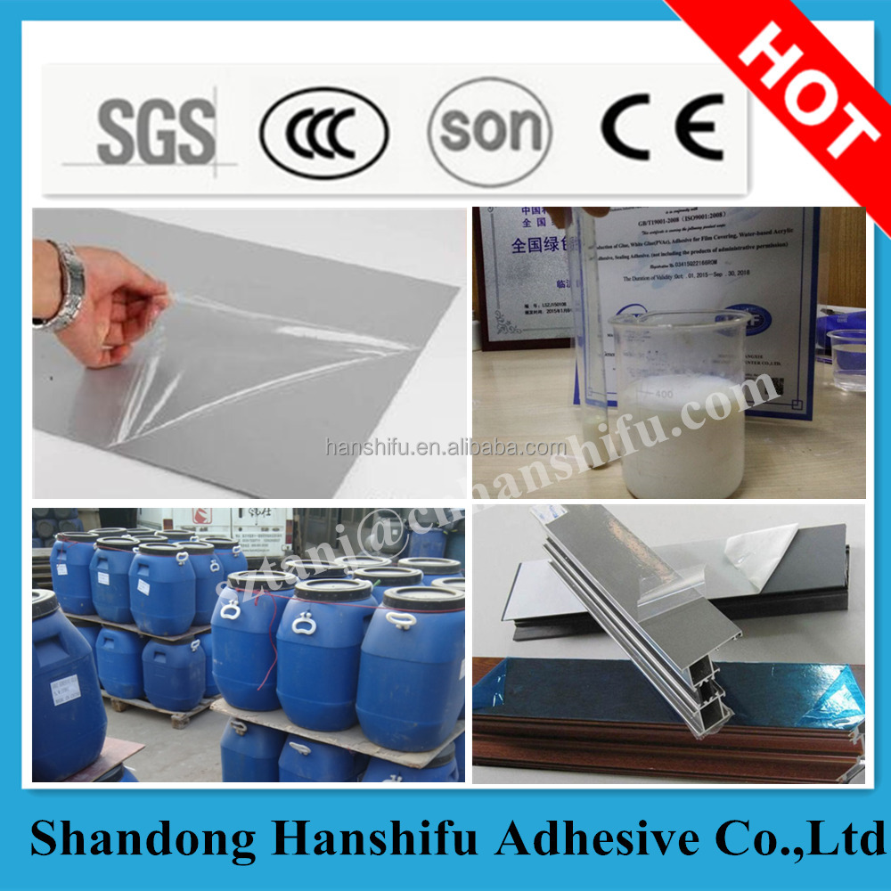Water based acrylic polymer adhesive/glue for PE protective film coating