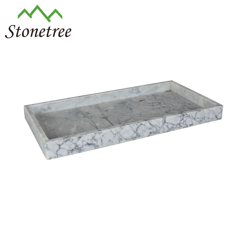 Polished Marble Stone Vanity Tray