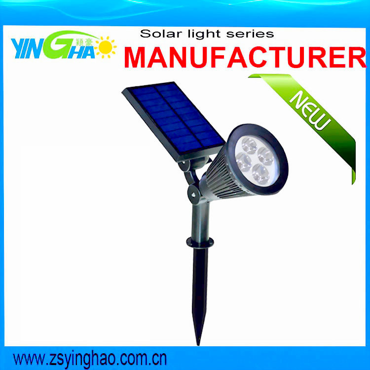 200Lumen 2 in 1 installation RGB solar garden spot for garden outdoors