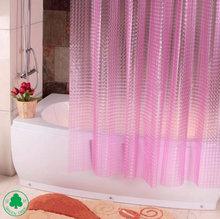 Fancy Mordern Eurp/USA 3D Film PEVA Embossed Shower Curtain/Bath Curtain