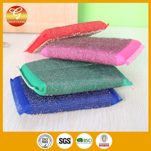 Top quality stainless steel cleaning scourer/scouring sponge