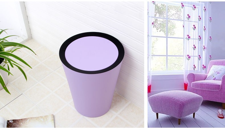 Best Quality Wastebasket With Shake Cover
