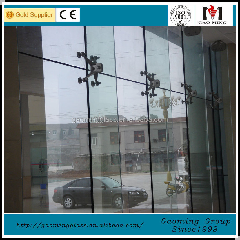 point fixing glass curtain wall for building with all accessories/one-stop curtain wall solution GM-LP142