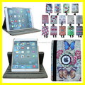 embossed pu leather 360 Rotating Stand Leather Case with SLEEP AND WAKE Function cover For Apple iPad air