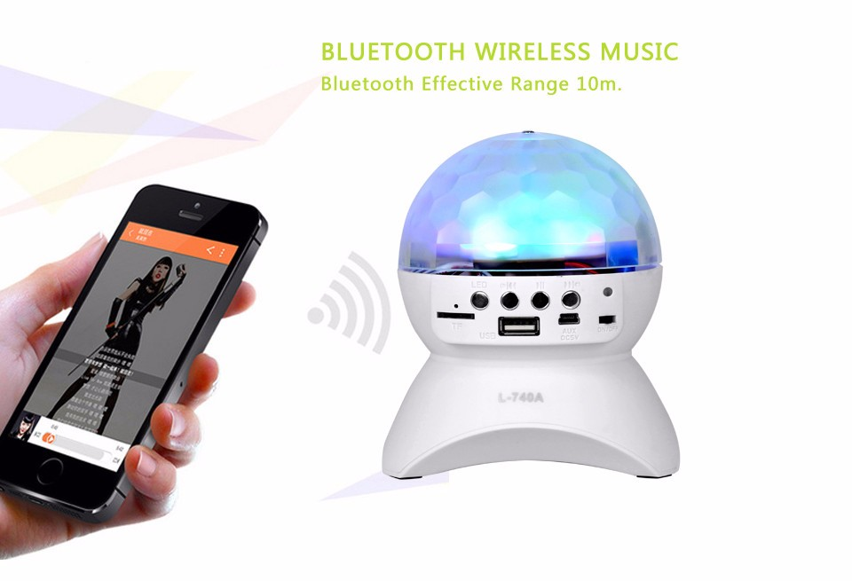 Speaker bluetooth Colourful led effect light Magic crystal bluetooth speaker Disco stage Ball light