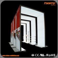Aluminum Extrusion Standard Modular Shell Scheme LED Lighting Trade Show Expo Display Exhibition Booth For Sale