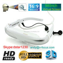 98 inch Virtual Display 3D Video Glasses, Support HDMI IN Function for FPV