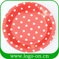 new design disposable party paper plate with print