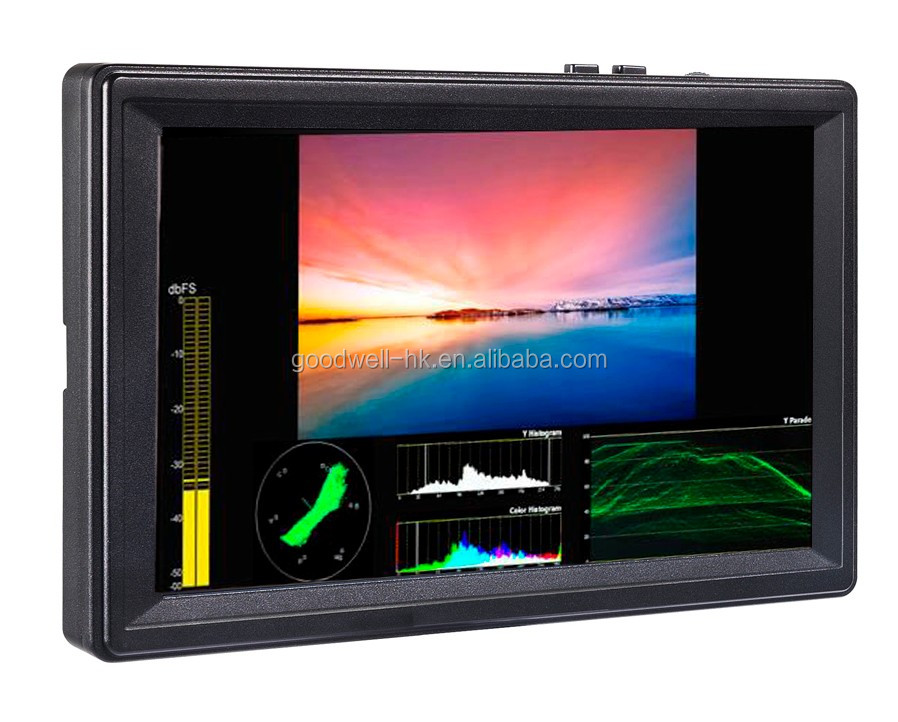 "Hot Professional Camera Mount LCD7""1920X1200 IPS panel with 3G-SDI/HDMI Input& Output ,450cd/m2 High Brightness"
