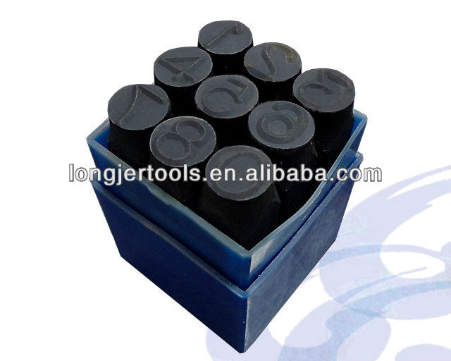High Carbon Steel Alphabet Punch Set / Number Punch Stamp Set