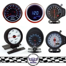 52mm racing boost gauge, 52mm guages digital gauge in white black light
