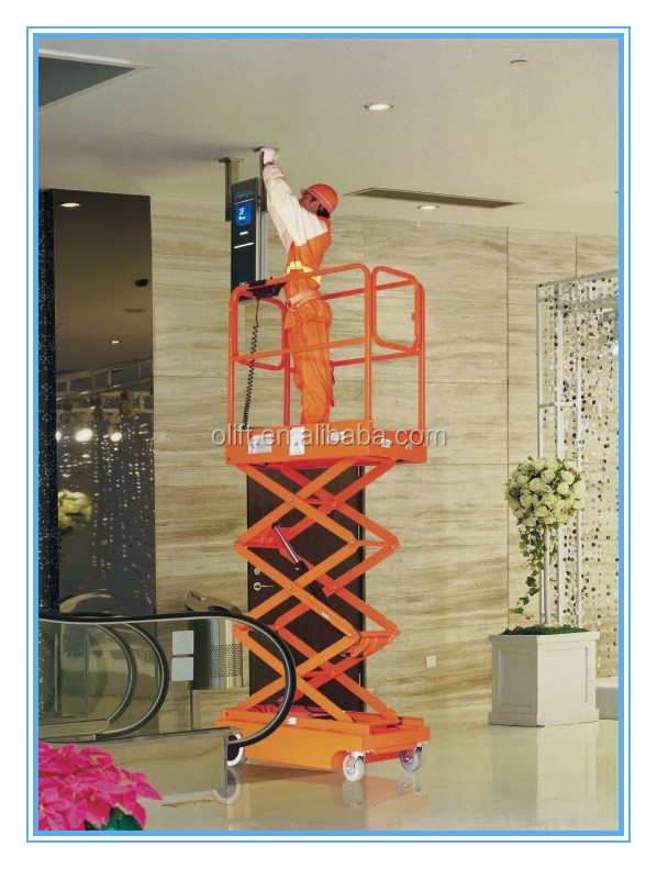 manual scissor lift platform small electric scissor lift mini scissor lifts