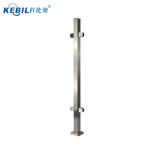 stainless steel post with tempered glass infill panels for indoor stair railing designs