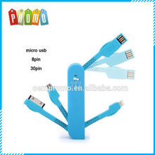 New Multifunction Swiss Army Knife Shape 3 in 1 Charging USB Date Cable For IPHONE And Android
