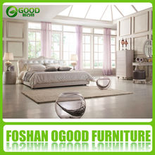 Modern Bedroom Furniture Soft Red Faux Leather Bed